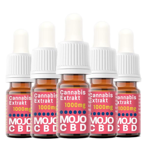 Mojo CBD Oil | 5 x 10ml | 5 g CBD | 10% CBD