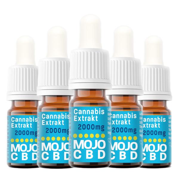 Mojo CBD Oil | 5 x 10ml | 10g CBD | 20% CBD